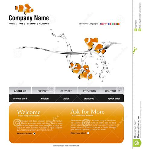 Website Template Royalty Free Stock Images Image 12941099 Copyright Free Website Templates