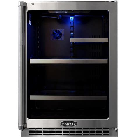 Glass Door Compact Refrigerator Compact Refrigerators Marvel Professional 5 6 Cu Ft Built In Compact Refrigerator And