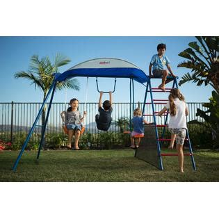 kmart metal swing sets iron challenge 100 metal swing set with ladder climber and
