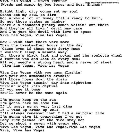 viva lyrics viva las vegas by elvis lyrics