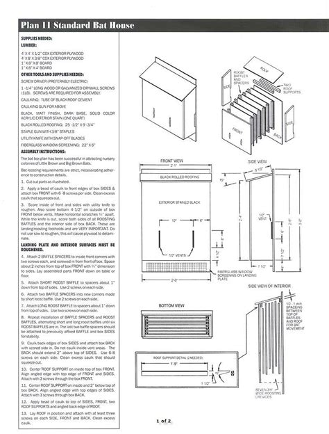 small bat house plans pages wildlifehomeplans