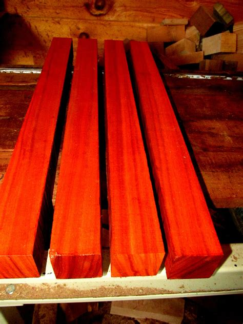 kd exotic african padauk turning block lathe wood blank