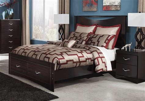 queen bedroom sets with storage zanbury queen storage bedroom set evansville overstock