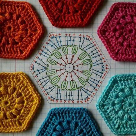 hexagon knitting pattern free best 25 hexagon crochet ideas on hexagon