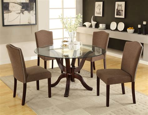 popular dining room glass table and chairs set amusing