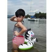 Striped Tank – Uniqlo  Swim Trunks Zara Kids