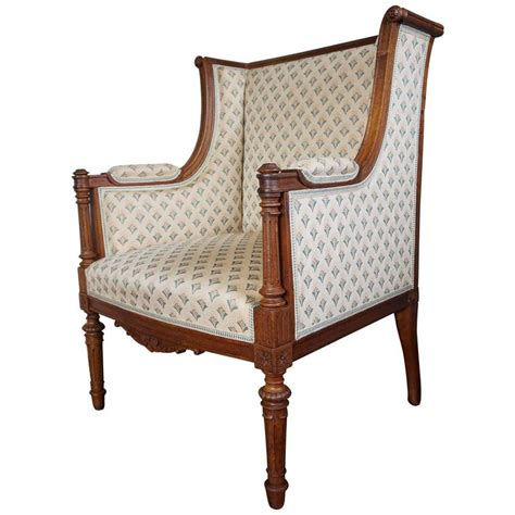 small armchairs for sale antique louis xvi style hand carved nutwood ladies bergere