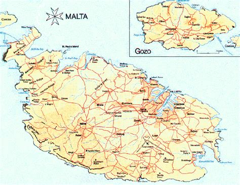 map of malta malta map of malta