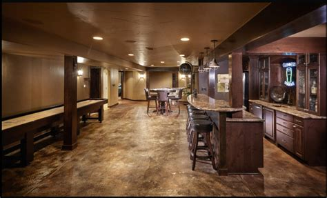 stained concrete basement floor basement