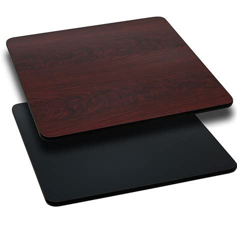 42 square table top 42 square table top with reversible black or mahogany