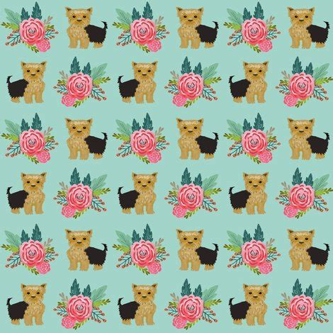 yorkie owners yorkie flowers florals terrier yorkies yorkie fabric for owners