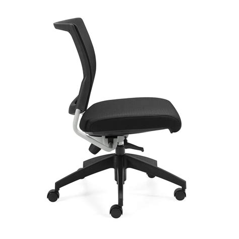 office furniture side chairs graphic armless mesh back office chair