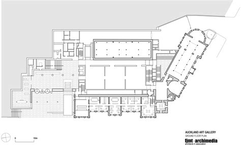 national gallery of floor plan gallery of toi o tāmaki auckland gallery fjmt archimedia 9