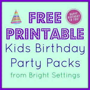 Home Decor Ideas On A Budget Blog Free Printable Kids Birthday Party Packs The Bright