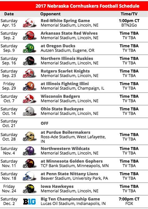 of nebraska lincoln schedule nebraska 2017 football schedule delta tau delta at the