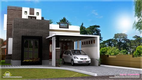 contemporary home exterior 1200 square contemporary home exterior kerala home design and floor plans