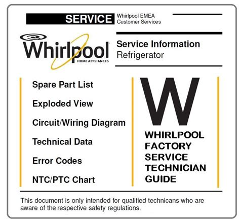 format factory error codes whirlpool bsnf 8421 w refrigerator service manual ebooks
