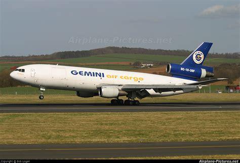 ngc gemini air cargo mcdonnell douglas dc   prestwick photo id  airplane
