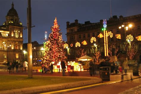christmas tree in george square glasgow some rights
