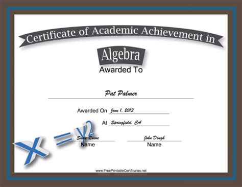 certificate of achievement ribbon 10 images the heigths