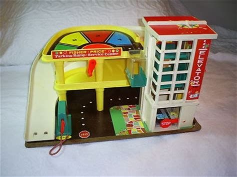 fisher price car garage vintage 70 s fisher price car parking garage w