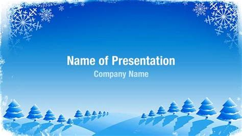 Microsoft Word Templates Place Holder Cards Winter by Snowflake Frame Powerpoint Templates Snowflake Frame