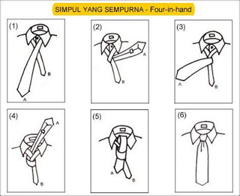 tutorial bikin dasi seni menyimpul dasi tips trick dan tutorial