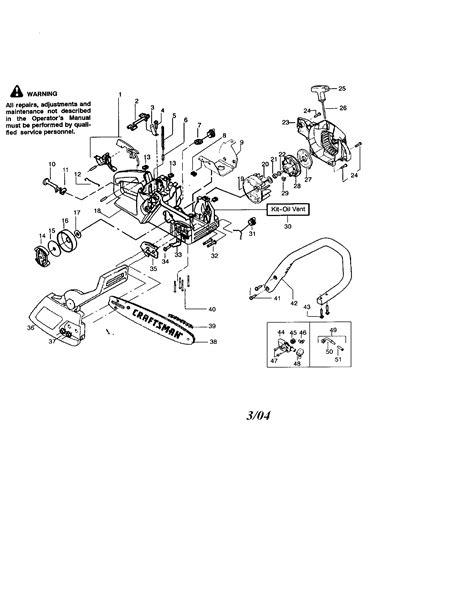 Craftsman model 358360280 chainsaw, gas genuine parts
