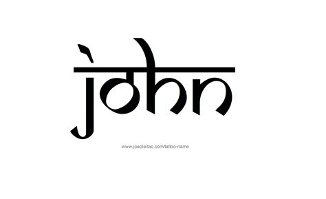 john tattoo design name designs