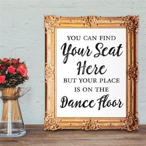 Wedding escort card sign   Find your seat here but your