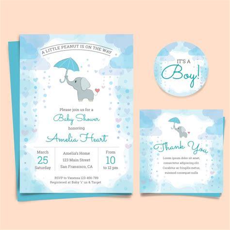 tarjetas de invitacion para imprimir baby shower gratis tarjeta de invitaci 243 n de baby shower con elefante