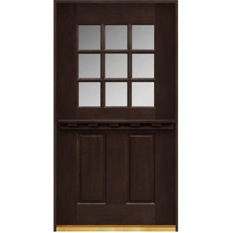 Main Door 30 In X 80 In Dutch Door Collection 9 Lite 9 Lite Exterior Door