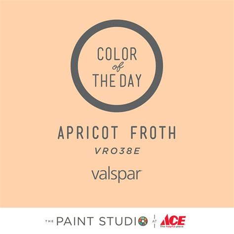 color of the day apricot froth by valspar paint color 31daysofcolor 31 days of color