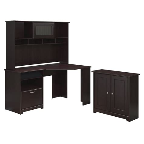 bush furniture cabot corner desk bush furniture cabot collection 60w corner desk hutch