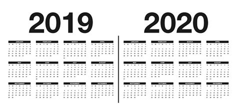 calendar    template calendar design  black  white colors stock illustration