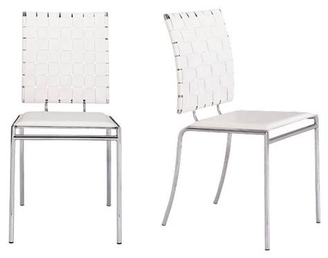 Set Overal Back To Cross woven back criss cross chair set of 4 by zuo modern in dining chairs