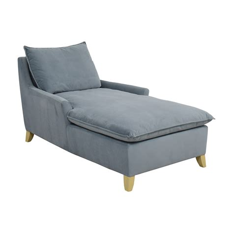 west elm chaise chair 72 west elm west elm bliss steel blue velvet lounge