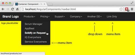javascript tutorial hover navigation bar drop down menu bootstrap phpsourcecode net