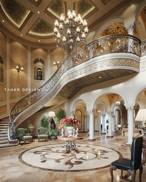 Grand Foyer by Grand Foyer Design For Luxury Mansion Located In Dubai
