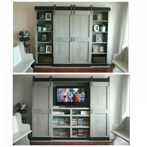 Tv Cabinet With Sliding Doors White Sliding Door Cabinet For Tv Diy Projects