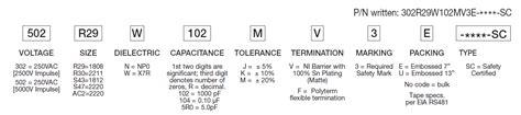 capacitor part marking ac safety capacitors x1 x2 y1 y2 y3 johanson dielectrics