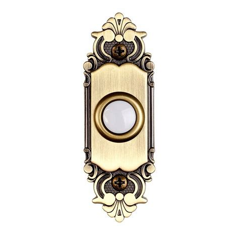 wired doorbell button with light hton bay wired lighted door bell push button antique