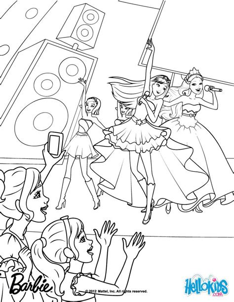 Princess And The Popstar Coloring Pages Image From Http Mewarnai Us Images 10472 Barbie Princess by Princess And The Popstar Coloring Pages