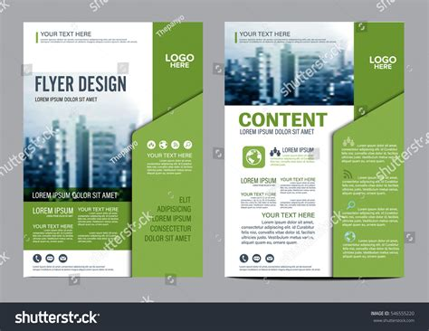 stock layout brochure template greenery brochure layout design template annual stock