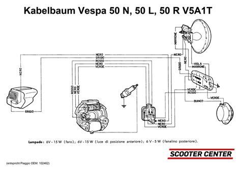 wiring loom grabor vespa v50 v5a1t scooter center vespa
