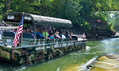 wisconsin dells duck boats dells army duck tour in wisconsin dells wi groupon