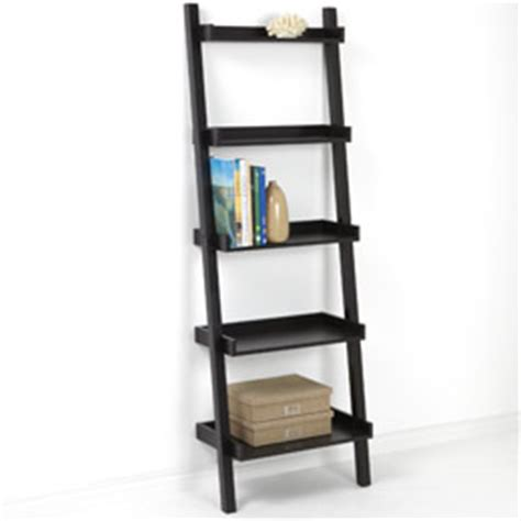 espresso brown leaning bookcase bookshelf pottery