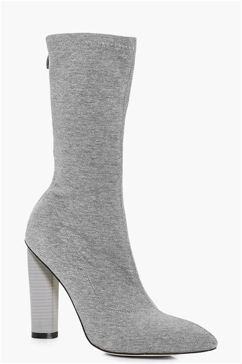 sock boots aus abbie jersey sock boot grey shopping australia