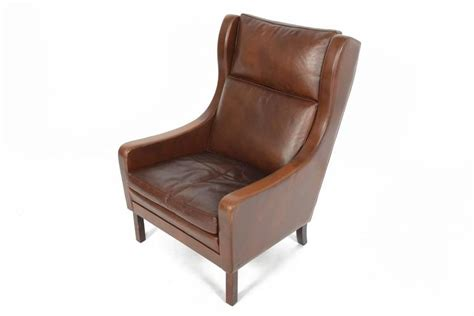 m 248 gensen style high back leather lounge chair at 1stdibs
