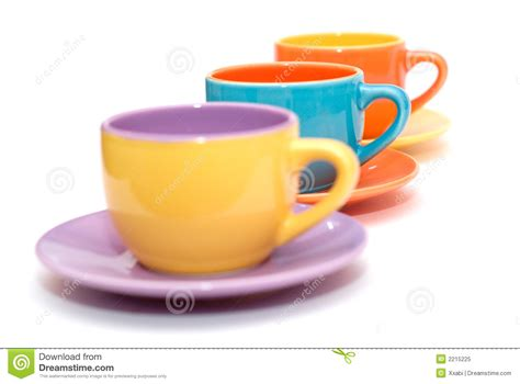 Colorful Coffee Cups Royalty Free Stock Photo   Image: 2215225